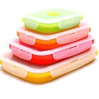 Travel Pro Silicone Collapsible Food Fruits Container Folding Lunch Box Tool 1Pc