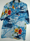 NEW ROUNDY BAY SOUTHSEAS TOPICAL LAGOON HAWAIIAN SHIRT size L
