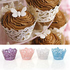 50pcs Butterfly Filigree Cupcake Wrappers Baby Shower Wedding Party Wraps Cases