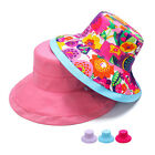 New Womens Wide Brim Anti-UV Linen Hiking Beach Dress Fisherman Bucket Sun Hat