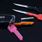 Mini Outdoor Survival Pocket Folding Stainless Steel Key Shape Knife Bluelans