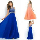 Women Long Chiffon Backless Dress Party Formal Bridesmaid Prom Ball Gowns Dress