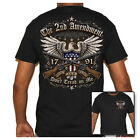 Mens Black Biker Life T-Shirt - 2nd Amendment Protect Our Rights Guns image