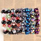 """1pc Womens Jewelry Colorful Crystal Glass Faceted Bead Bracelet Bangle Gift 7""""L"""