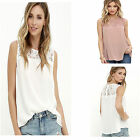 Summer Women Lady Fashion Lace Chiffon Sleeveless T-shirt Casual Blouse Vest Top
