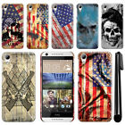 For HTC Desire 626 626S Flag Skull HARD Protector Back Case Phone Cover + Pen