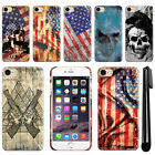 "For Apple iPhone 7 4.7"" Flag Skull HARD Protector Back Case Phone Cover + Pen"