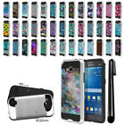 For Samsung Galaxy Grand Prime G530 Shockproof Brushed Hybrid Cover Case + Pen