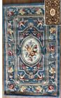 """Royal Palace Delicate Medallion Handmade Wool Area Rug Floral Classic 30"""" x 50"""""""