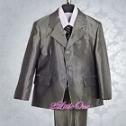 5pcs Formal Tux Suits Outfit Wedding Birthday Party Toddler Boy Size 2T-7 BV021