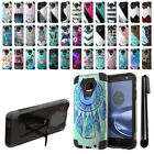 For Motorola Moto Z Force Droid Edition Hybrid Dual Layer Stand Case Cover + Pen