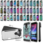 "For LG Stylo 3 Stylus 3 LS777 L83BL 5.7"" Card Brushed Hybrid Case Cover + Pen"