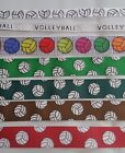 """VOLLEYBALL RIBBON- 3/8"""" OR 7/8"""" X 1YD - WHITE,GREY,GREEN,BROWN,RED,HUNTER GREEN"""