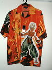 NWT ENJA KAZUKI demon slayer/ ANIME SHIRT red/orange or gray S M L