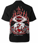 Harley-Davidson Las Vegas Cafe Poker Babe and Flames Biker Shirt $24.99 USD on eBay