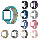 Nylon/Silicone Watch Band Strap with Classic Buckle with Frame for Fitbit Blaze