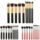 Pro 10pcs Cosmetic Makeup Tool Brush Brushes Set Eyeshadow Blush Brushes Tools