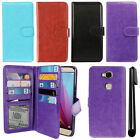 For Huawei Honor 5X/ Sensa 4G H710VL H715BL Card Holder Wallet Cover Case + Pen