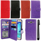 For Samsung Galaxy On5 G550 G500 Card Holder Cash Slots Wallet Cover Case + Pen