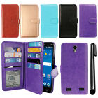 For ZTE ZMAX 2 Z958 Z955L Flip Card Holder Cash Slot Wallet Cover Case + Pen