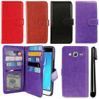 For Samsung Galaxy J3 J310 J320/ J3 V Flip Card Holder Wallet Cover Case + Pen