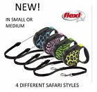 NEW FLEXI 5MTR CORD RETRACTABLE DOG LEAD SAFARI STYLE SMALL OR MEDIUM 12-20KGS