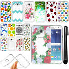 For Samsung Galaxy J7 J700 Slim Soft TPU Silicone Clear Case Cover + Pen