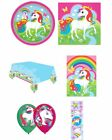 Magical Unicorn Party Bags Plates Napkins Tablecloth Balloons Stickers Rainbow