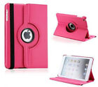 IPAD MINI LEATHER 360 CASE COVER STAND SCREEN PROTECTOR STYLUS SMART SLEEP WAKE