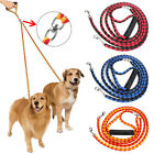 No Tangle Double Multiple Dual Coupler 2 Way Nylon Dog Pet Walking Leash Lead