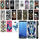 For Samsung Galaxy S8 G950 Butterfly Design HARD Back Case Phone Cover + Pen