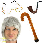 MENS OLD MAN FANCY DRESS ACCESSORY SET GRANDAD COSTUME ACCESSORIES