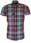 Relco Short Sleeve Bold Check Shirt CK26 - Multi - 60s Button Down Mod Skin