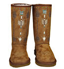 Montana West® Studded Arrow, Fringe Boots- Brown, Size 8