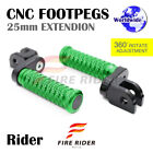 FRW CNC 6C 25mm Front Footpegs For Kawasaki GPZ 750 85-87 85 86 87