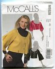 Misses Size 6 8 10 12 14 Lined Cropped Jacket Sewing Pattern McCalls 5528 **