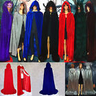 Unisex Cosplay Velvet Cloak Witch Adult Hooded Cape Halloween Party Costume hot