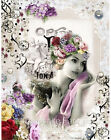 Whimsy Dust Victorian Lady Quilt Block Multi Szs FrEE ShiP WoRld Wide (W9