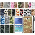 For Samsung Galaxy J7 J700 Camo Design HARD Back Case Phone Cover + Pen
