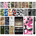 For Huawei Mate 9 Camo Design HARD Back Case Phone Cover + Pen