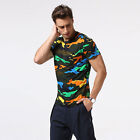 New Summer Men's Slim Short Sleeve O-Neck Camouflage Shirt Casual T-Shirts 1215w