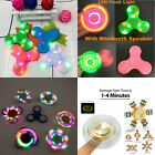 NEW Kids Adults Glowing Hand Spinner Tri Fidget Ceramic Ball Desk Focus Toy Lot