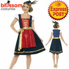 CL970 Traditional Deluxe Claudia Bavarian Costume Oktoberfest Beer Maid Costume
