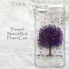 MAK Disegno Bling Pressed Purple Flower Case For iPhone Samsung Galaxy S8 iPhone