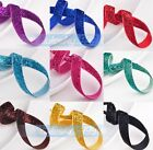10/50/200Yards 3/8'' Width Trim Sparkle Glitter Velvet Ribbons Sewing Fabric