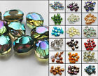 9x12mm Faceted Oblong Finding Cut Glass Crystal Loose Spacer Oval Beads 10pcs