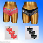 Ladies 3 Pack M&S Brazilian Knickers Wide Lace Leg 6-18*Fast Despatch