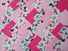 BUTTERFLIES PINK ~ COTTON FABRIC PATCHWORK SQUARES PIECES CHARM PACK 2 4 5 INCH