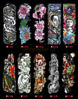 Extra Large Temporary Tattoos Long Full Arm Skull Flower Tattoo Stickers $4.99 USD on eBay