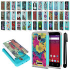 For Alcatel Dawn 5027/ Streak/ Ideal Hybrid Bumper Shockproof Case Cover + Pen